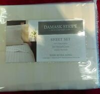 NEW Charter Club Damask Stripe Sheet Set(Twin Extra Long,500 Thread Count) $120.