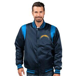 Los Angeles Chargers Starter The Prime Satin Vintage Full Snap Jacket - Blue