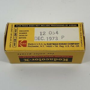 NIB Kodak Sealed Kodacolor-X CX 127 Film Expired Dec 1973 New Old Stock