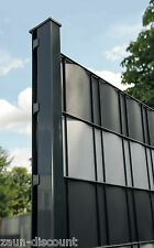 Premium hart Sichtschutzstreifen Zaun Doppelstabmatten Gitterzaun TOP anthrazit