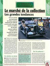 Marché de la Collection Voiture Ancienne Automobile Retro Car Auto FICHE FRANCE