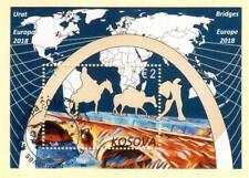 Kosovo Stamps 2018. Europa CEPT: Bridges. CTO Souvenir sheet MNH