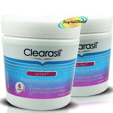 2x Clearasil Ultra Rapid Action Pads Cleanser Exfoliate Clear Spot Redness Pore