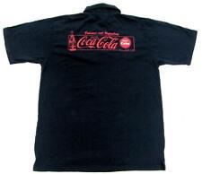 COCA COLA COKE NAVY & RED POLO BUTTON UP COLLAR SHIRT MENS SIZE SMALL S