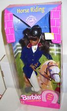 #6701 NRFB Mattel Horse Riding African American Barbie Doll