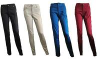 NEW Womens Ladies skinny black/Stone hipster chino trousers jeans sizes 6-14