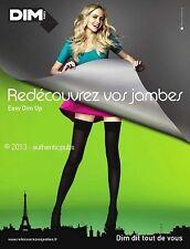 PUBLICITE DIM EASY DIM UP BAS COLLANT LINGERIE DE 2008 FRENCH AD ADVERT PUB