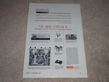 Harman Kardon Citation B Power Amp Ad, 1963, Specs,info