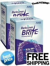 RETAINER BRITE DOUBLE Pack 6 Month Supply LOW PRICE + F R E E Ship