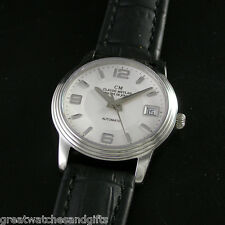 Claude Meylan #3319 ~ Automatic, Stainless, Silver Dial