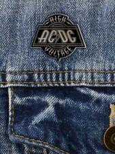 More details for ac/dc badge high voltage enamel pin