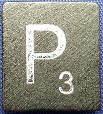 Single Scrabble Diamond Anniversary Wood Letter P Tile Replacement Game Part