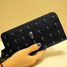 Punk Style WOMEN Clutch Bag Skull head Design Handbag Fashion Wallet Purse