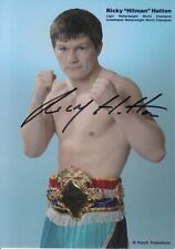 Ricky Hatton Hand Signed 6x4 Promo Card - Boxing Autograph.