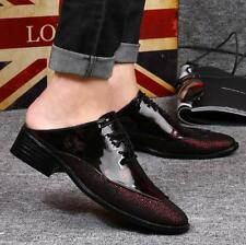 Fashion Mens Dress Formal Patent Leather Lace Up Shoes Sandals Slipper Loafer t1