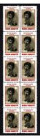 MARIO ANDRETTI MOTOR RACING STRIP OF 10 MINT VIGNETTE STAMPS 3