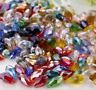 wholesale 15/60/100pcs 6x12mm  AB Faceted Crystal Glass Teardrop Beads Pendants