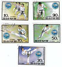KOREA - Bustina 5 francobolli serie SPORT KARATE