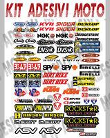 ADESIVI MOTO SPONSOR 73 Pz Sticker Motocross Grafiche Bici Mtb Computer Motorino
