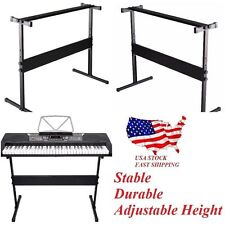 Adjustable Height Keyboard Piano H Stand Electric Organ Metal Braced Rack NEW MY