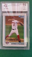 STEPHEN STRASBURG 2010 BOWMAN ( GRADED ROOKIE ) CARD BP-1 NATIONALS BCCG 10 MINT