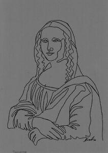 original drawing A4 46BJ art samovar ink modern female portrait Signed 2020