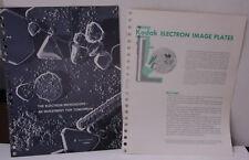 Kodak Tech Data 1970 Electron Image Plates Microscope P-116 P-115 B154E