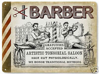BARBER SHOP hair salon VINTAGE style metal SIGN  RETRO PLAQUE art 011