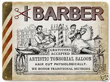 BARBER SHOP hair salon VINTAGE style metal SIGN  RETRO PLAQUE art 011