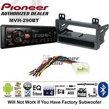 Pioneer Car Radio Stereo Media Player Bluetooth Dash Install Kit USB AUX | NO CD