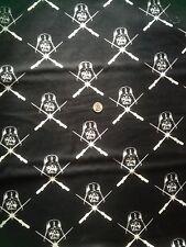 Fabric Star Wars Darth Vader Glows In The Dark Black  BHY