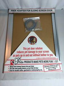 PRIDE Pet Door Adapter for Sliding Screen Door LARGE A 500 Aluminum