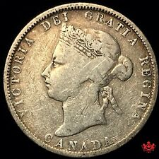 1880H Canada 25 Cents Wide 0 - VG10 - Lot#2003