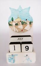 Hand Painted Poliester Whirling Dervish Design Calender Set of 3. TRQ