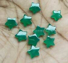 AAA Quality 10 Pieces Green Onyx 10x10 MM Star shape Cabochon