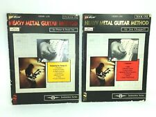 Lot of 2 HEAVY METAL GUITAR METHOD With Tablature Cherry Lane Instruction Series