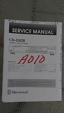 sherwood cd-1162r service manual repair stereo compact disc cd player original