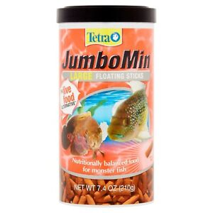 Tetra JumboMin Large Floating Sticks, Food for Monster Fish, 7.4 Ounce.