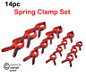 Amtech Spring Clamp Set, Clear - 14Pc Pro Clamps Assorted Size Heavy Duty S2956
