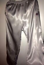 K Swiss Nylon Satin Silver Pants Silky Shiny L / Xl