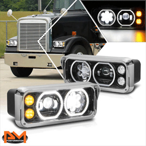 For 81-19 Kenworth W900/Western Star 4800 Full LED Dual Halo Projector Headlight
