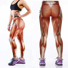 Hot Women/Man Strong Muscle 3D Print Legging Fitness Pants Yoga Gym Sports