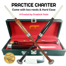 More details for createch scottish highland bagpipe practice chanter, carrying case & reeds