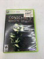 Condemned: Criminal Origins (Microsoft Xbox 360, 2005) W/ MANUAL