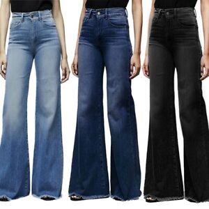 High Waist Wide Leg Jeans Women Boyfriend Jeans Denim Skinny Flare Pants