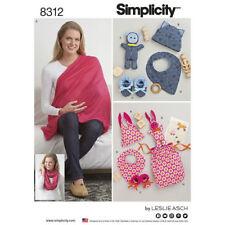 Simplicity Sewing Pattern 8312 Knit Baby Gifts Nursing Shawl One Size Uncut
