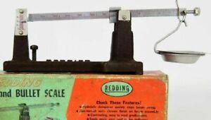 Vintage Redding Powder & Bullet Scale Measure with Box 524 Hydraulic Dampener