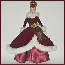 Barbie DOLL Fashion GOWN Red VELVET Christmas Gown Gold Poinsetta & Pumps
