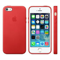 Original Apple iPhone 5 5S SE MF046ZM/A Echt Leder Schutz Hülle Cover Case Rot