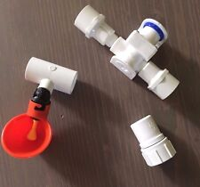 23 Cup Poultry Chicken Water Pressure Reducer System + PVC Tees + Hose Adapter